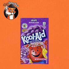 1 Box 48 Pack Packets Kool-Aid Drink Flavor Mix Grape Unsweetened FREE SHIPPING