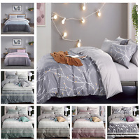Luxury Duvet Cover Printed Polyester Soft Quilt Bedding Set Single Double King