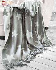 Wohndecke Sterne Decke grau Tagesdecke Kuscheldecke Sofadecke Sofaüberwurf Stern