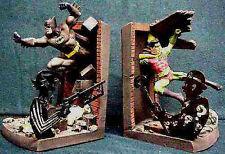 DC Comics Batman and Robin Deluxe  Bookends Statue Set New 1997