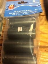 Dog Waste Bags 80ct  Disposable 4 ROLLS  New In Pack
