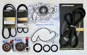 Timing Belt kit W/ AISIN Water Pump & Serpentine Belt Set For Toyota/Lexus 3.0L.