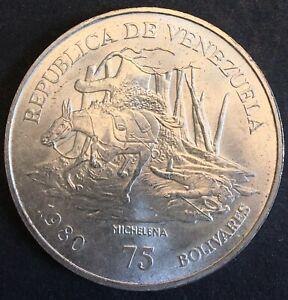 Venezuela - Silver 75 Bolívares Coin - 'Antonio José de Sucre' - 1980 - UNC