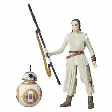 Hasbro Star Wars The Black Series 6-Inch Rey Jakku and Bb-8 Action Figure New