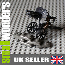WW2 Anti-Aircraft Gun with Sandbags - Ideal for military minifigs