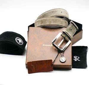 NWT STEFANO RICCI Leather Luxury BELT Buckle Logo SR Size 95 cm Us 38-39 C24