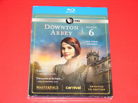Masterpiece: Downton Abbey - Season 6 (Blu-ray, 3-Disc Set)   New + Slipcover
