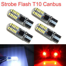 4X Strobe Flash T10 24SMD LED Silica Tail Light Brake Stop Bulbs W5W 194 168