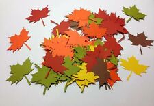 """200 AUTUMN FALL GIANT LEAF Leaves DIE CUTS 3.25"""" PARTY DECORATIONS Scrapbooking"""