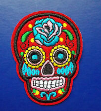 Skull Parche Parche - Flor-cráneo Biker Hábito Eyecatcher