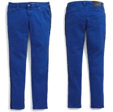 Ralph Lauren Jemma Tuxedo-Striped Jeans Pants, MARYANNE BLUE,Size 14,MSRP $59.5