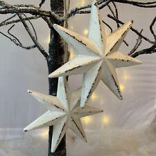 Vintage Chic Shabby White Star Christmas Tree Decoration Heaven Sends