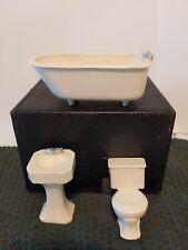 Ceramic Porcelain Miniature Doll House Furniture Bathroom Tub/ Sink /and toilet
