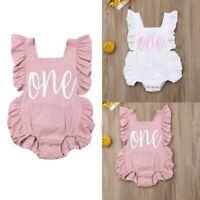 US Newborn Infant Baby Girls Romper Clothes Outfit Sunsuit Jumpsuit Playsuit
