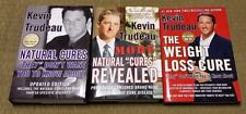 KEVIN TRUDEAU 3 Book Lot NATURAL CURES / MORE / WEIGHT LOSS CURE Mint HBDJ