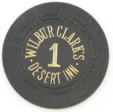 Wilbur Clark's Desert Inn Casino Roulette Chip Las Vegas Table 1 H Mold Black