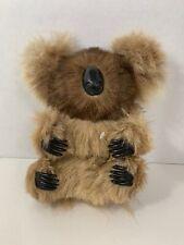 plush firm body koala bear real fur vintage Australia souvenir