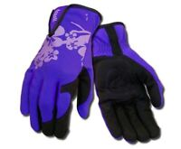 Ansell 97-980 Ladies Women Premium Syn. Leather Palm Gardening Work Glove Purple