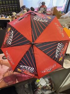 Disney Cars Lightning McQueen Boys Red and Black Umbrella  I am Speed
