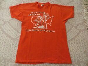 MEDIUM Vintage ARTEX Made USA University of Wyoming Traveling America T-Shirt