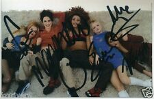 SPICE GIRLS Signed (by all 5) Photograph Geri / Mel C / Mel B / Emma / Victoria