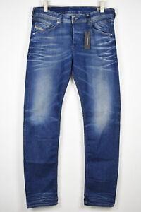 RRP €179 DIESEL BELTHER-R R23T8 Men W34/L34 Worn Look Slim Tapered Jeans 14877