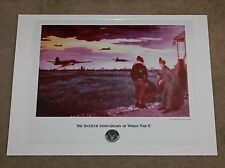 World War II Tension at Dawn Lawrence Smith Art Print Poster Air Force WW 2
