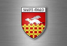 Autocollant sticker voiture moto blason ville departement adhesif saint malo