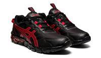 Asics GEL-QUANTUM 90 Trainers Black Classic Red 360 Sneakers