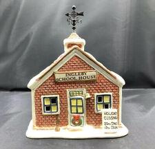 Vintage Ingleby Christmas Village Lighted School House American Greetings