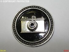steampunk brooch badge pin silver camera photographer picture artist portrait