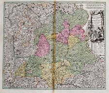 c1720 Bayern Oberpfalz Kolorierte Kupferstich-Landkarte Homann