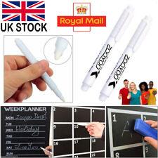 1pcs/2pcs White Liquid Chalk Pen Glass Window Chalkboard Black Board Marker UK