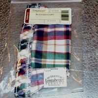 Longaberger Woven Traditions Plaid BUSINESS CARD Basket Liner ~ New in Bag!