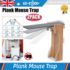 2X Walk The Plank Mouse Trap Mice Cage Rat Trap Auto Reset Rodent Bucket Board