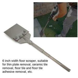 Sabre Tools 6inch Width SDS Max Floor Scraper, Removes Thinset & Adhesives