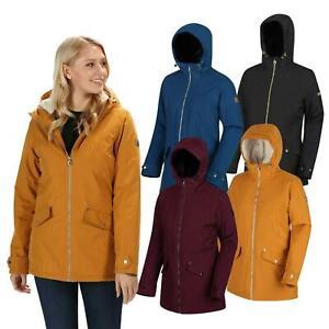 Regatta Womens Bergonia Waterproof Jacket Breathable Hooded Ladies Rain Coat
