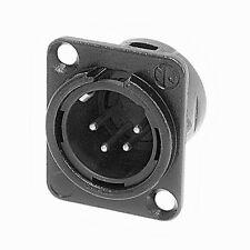 Neutrik NC4MD-L-BAG-1 XLR 4 Pin Male, Panel Mount - Solder - Black/Silver 1122