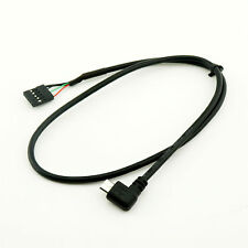 Micro Usb Male Rightleft Angle To Dupont 5 Pin Female Header Motherboard Cable