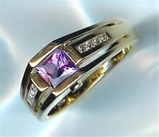 Gen Amethyst Ring, priced below cost New 3 Sided Right Hand Diamond &