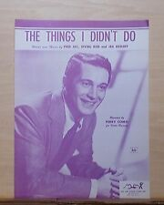 The Things I Didn't Do - 1954 sheet music - Perry Como  photo cover