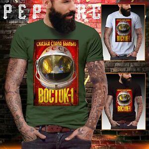 USSR Space Program T Shirt Soviet Russia Russian CCCP NASA Yuri Gagari Geek top
