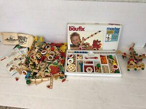 Kinder Baukasten Baufix - Holzspielzeug - Konglomerat mit Anleitungen