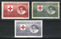 Romania 1946 MNH Mi A Xa-c Queen Mother & Red Cross.White paper.Perforated **