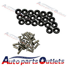 FENDER/BUMPER WASHER/BOLT ENGINE BAY DRESS UP KIT  BLACK 20 PC BILLET ALUMINUM