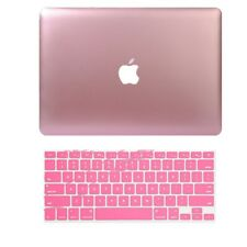 Metallic Rubberized Case Keyboard Cover fo Macbook Pro 13/15 Retina 12 Air 13/11