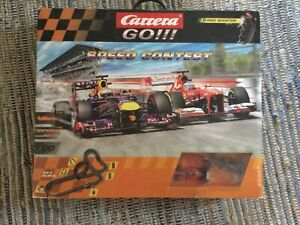 Carrera GO! 1:43 Speed Contest Slot Racing System With Red Bull Car And Ferrari