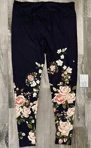 NEW RELEASE Lularoe Leggings Size TC2 Beautiful Dipped Roses Amazing Print