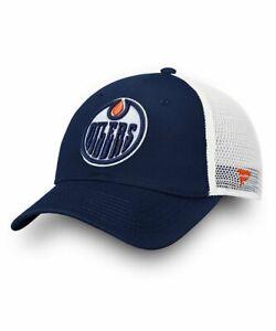 Fanatics NHL Edmonton Oilers Unstructured Snapback Mesh Baseball Cap Hat