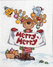 Cross Stitch Kit ~ Design Works Merry, Merry Moose Christmas  Reindeer #DW1059